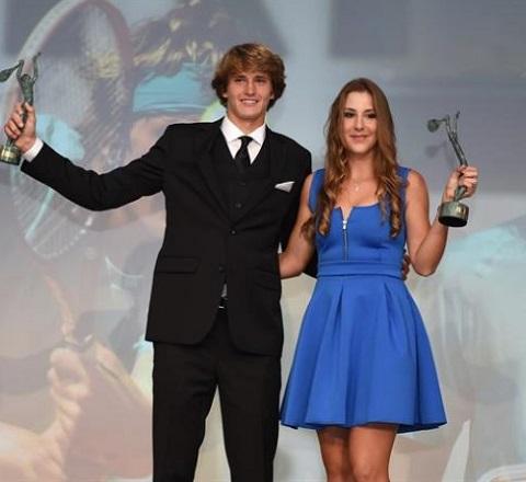 Alexander Zverev and his girlfriend Belinda Bencic