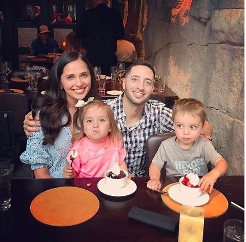 Ryan Braun with his wife and children