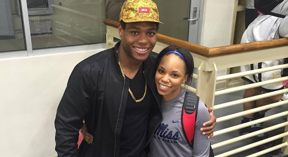 Breanna Tate with her boyfriend Jalen Ramsey