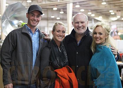 Tammy Bradshaw with her husband and children