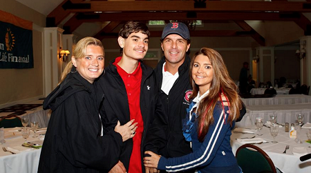 The Flutie Family (Laurie with her husband and children)