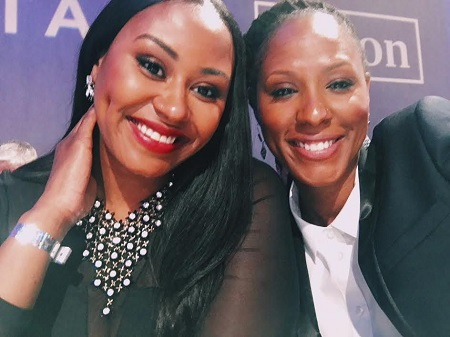 Chamique Holdsclaw and her girlfriend-turned-wife