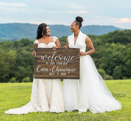 Chamique Holdsclaw wed Cara Wright