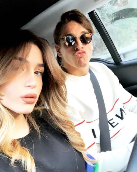 Nicolo Zaniolo with beautiful, Girlfriend Sara Scaperrotta