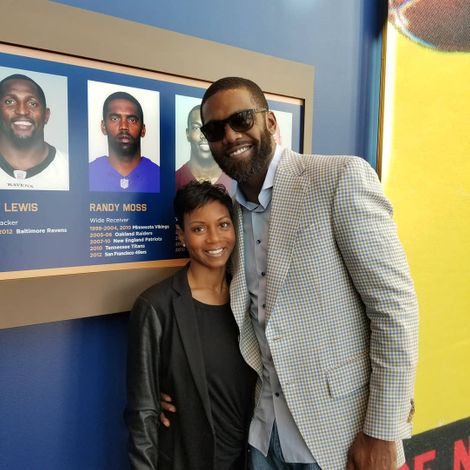 Lydia and Randy Moss
