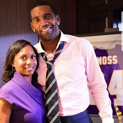 Lydia with her husband Randy Moss
