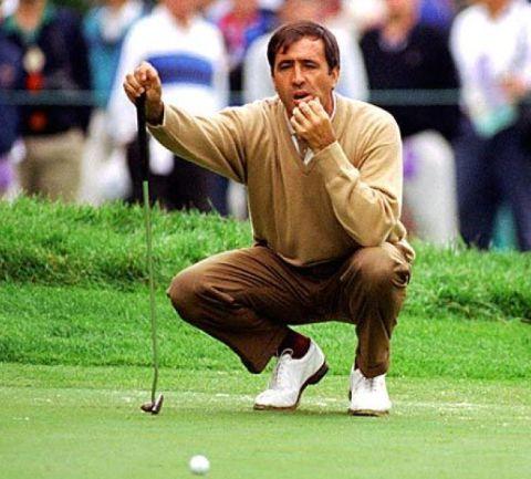 Seve Ballesteros at the golf course