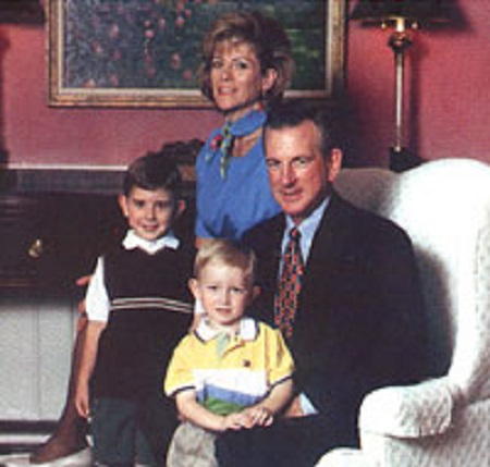Tommy Tuberville with his wife and children