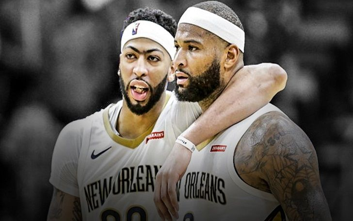 ded947eb36bb NBA All-Star Game  Anthony Davis wears DeMarcus Cousins  jersey in ...