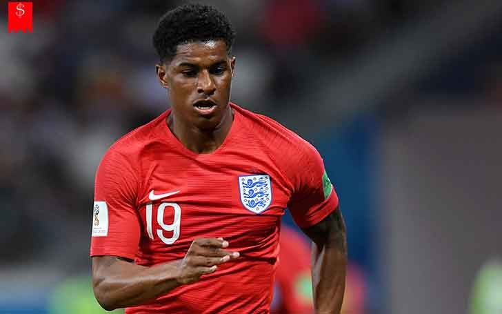 1 8 M Tall English National Team And Manchester United Forwarder Marcus Rashford Career Stats And Worldcup Performances Know How Much Is The Player S Salary And Net Worth
