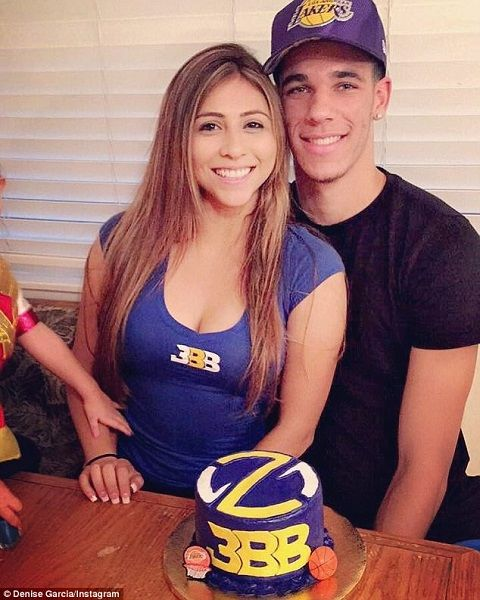 eaa45aa52   CAPTION  Lonzo Ball and his girlfriend Denise Garcia    SOURCE  Daily  Mail