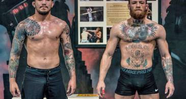 Conor McGregor's Jiu-Jitsu coach Dillon Danis downs a full bottle of his Proper Twelve whiskey in just 30 seconds