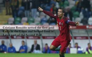 Cristiano Ronaldo netted the first goal Early in the Game and Second Goal in Later part of the First Half, to be Countered By Costa at 54 minutes of the game