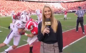 Know who has a Big L on Josh Rutledge's lawfully wife Laura Rutledge? College Football Player Accidentally Tackles ESPN Reporter and Asked Her on a Date