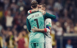 What Did Spanish Captain Sergio Ramos Whisper to De Gea's Ears After Portugal blunder?