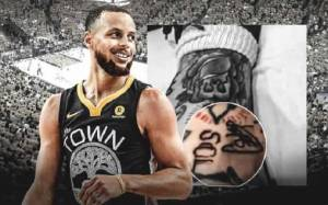 Warriors' Guard Steph Curry and wife Ayesha get Tattoo with a tribute to their three children